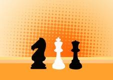 De achtergrond van het schaak Stock Foto
