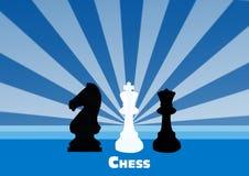De achtergrond van het schaak Royalty-vrije Stock Foto