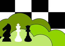 De achtergrond van het schaak Stock Foto's