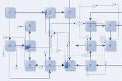 De Achtergrond van het schakelschema Stock Afbeeldingen