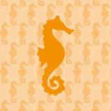 De achtergrond van het Seahorsepatroon Royalty-vrije Stock Afbeelding