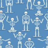 De achtergrond van het skelet Beenderen en schedelornament Ornament van doden Stock Foto