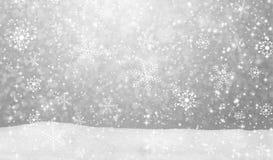 De achtergrond van het sneeuwvallandschap vector illustratie