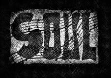 De achtergrond van het soul-muziekwoord Royalty-vrije Stock Foto's