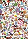 De achtergrond van het speelgoed Royalty-vrije Stock Foto's