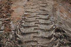 De Achtergrond van het Spoor van de modder Royalty-vrije Stock Foto