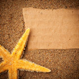 De achtergrond van het strand Stock Fotografie