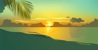 De achtergrond van het strand Stock Illustratie