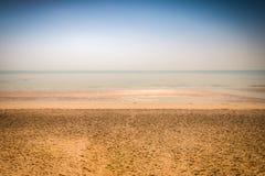 De achtergrond van het strand en van het zand Royalty-vrije Stock Foto's