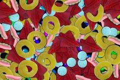 De achtergrond van het suikergoed Stock Afbeelding