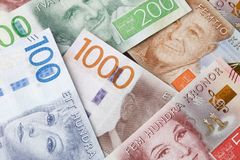De achtergrond van het Swdedishcontante geld Royalty-vrije Stock Afbeelding