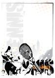 De achtergrond van het tennis stock illustratie