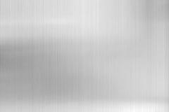 de achtergrond van het textuurmetaal van geborstelde staalplaat Stock Afbeelding