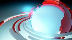 De Achtergrond van het uitzendingsnieuws Loopable stock illustratie