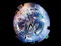 De Achtergrond van het uurwerk vector illustratie