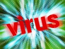De Achtergrond van het virus Stock Afbeelding