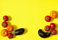 De achtergrond van het voedsel Groentenassortimenten Stock Foto