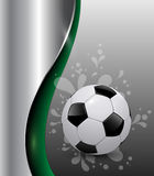 De achtergrond van het voetbal Stock Foto