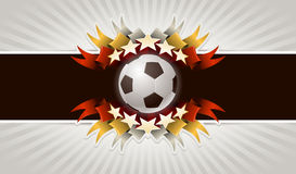 De achtergrond van het voetbal Stock Foto's