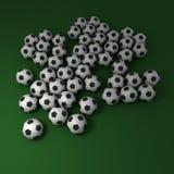 De achtergrond van het voetbal Stock Afbeelding