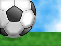 De achtergrond van het voetbal Stock Afbeeldingen