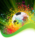 De achtergrond van het voetbal met copyspace. EPS 8 Royalty-vrije Stock Foto's