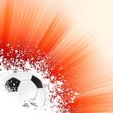 De achtergrond van het voetbal met copyspace. EPS 8 vector illustratie