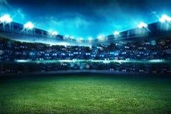 De achtergrond van het voetbalstadion Stock Afbeelding