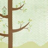 De Achtergrond van het vogelhuis vector illustratie