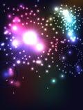 De achtergrond van het vuurwerk Royalty-vrije Stock Afbeeldingen