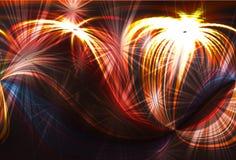 De achtergrond van het vuurwerk stock illustratie