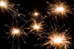 De achtergrond van het vuurwerk Stock Afbeelding