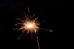 De achtergrond van het vuurwerk Stock Foto