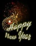 De achtergrond van het vuurwerk - nieuwe jarenvooravond 6 Royalty-vrije Stock Afbeeldingen