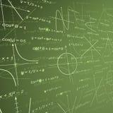 De achtergrond van het wiskundeschoolbord Stock Foto