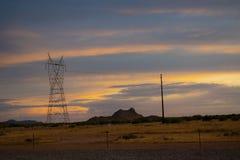 De Achtergrond van het de Woestijnlandschap van Arizona royalty-vrije stock fotografie
