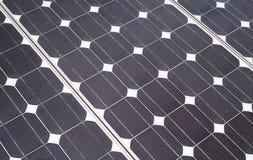 De achtergrond van het zonnepaneel Stock Afbeelding