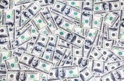 De achtergrond van honderd dollarsbankbiljetten Royalty-vrije Stock Foto