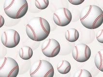 De achtergrond van honkbalballen Royalty-vrije Stock Fotografie