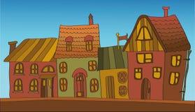 De achtergrond van huizen Royalty-vrije Stock Afbeeldingen