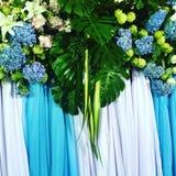 De achtergrond van huwelijksbloemen Royalty-vrije Stock Afbeeldingen
