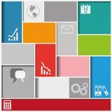 De Achtergrond van Infographicvierkanten Stock Afbeeldingen