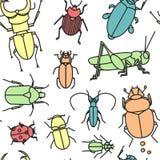 De achtergrond van insecten Stock Afbeelding