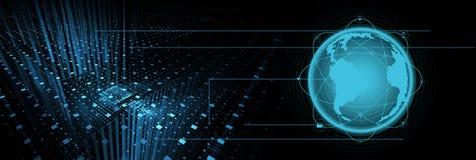 De achtergrond van de intelligentietechnologie stock fotografie