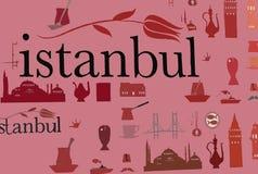 De achtergrond van Istanboel Royalty-vrije Stock Afbeeldingen