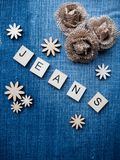 De achtergrond van jeans Royalty-vrije Stock Afbeelding