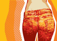 De achtergrond van jeans. Royalty-vrije Stock Foto's