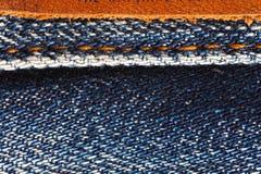 De achtergrond van jeans. Stock Fotografie