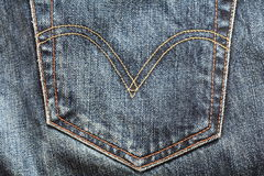 De achtergrond van jeans Stock Foto