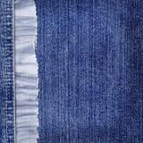 De achtergrond van jeans met blauw kant voor het desing Royalty-vrije Stock Afbeelding